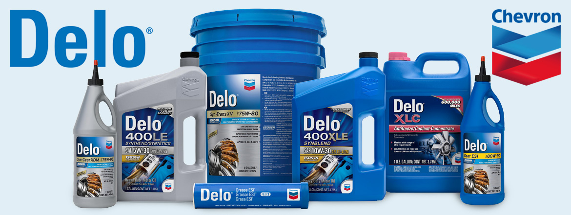 Chevron Delo Diesel Engine Oils, Hydraulic & Transmission Oil and Greases & Gear Oils